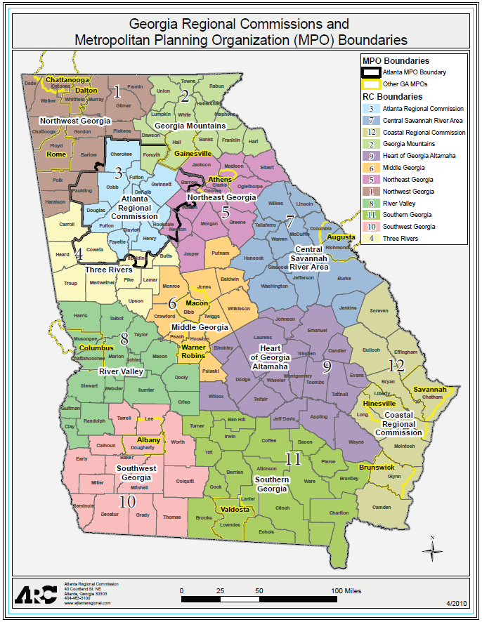 Georgia Regional Transportation Map